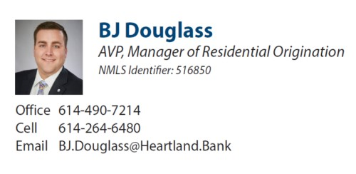 BJ Douglass, AVP, Manager of Residential Origination, NMLS Identifier: 516850