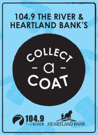 104.9 The River and Heartland Bank's Collect-A-Coat