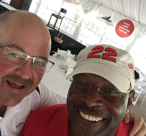 Our king of selfies, Scott McComb, with OSU's king of football, Archie Griffin, at a local golf event.
