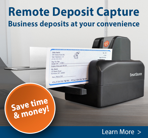 Remote Deposit Capture: Business Deposits at Your Convenience.  Save Time and Money!