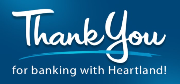 Thank You for banking with Heartland!