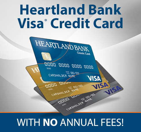 Heartland Bank Visa Credit Card with No Annual Fees!