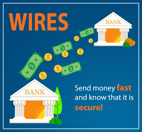 WIRES: Send money fast and know that it is secure!