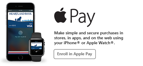 Apple Pay - Make simple and secure purchases in stores, in apps, and on the web using your iPhone or Apple Watch.  Enroll in Apple Pay.