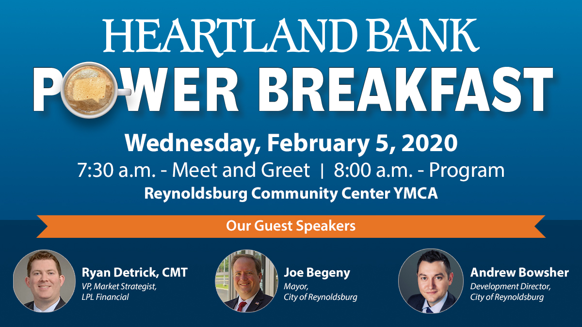 You are invited - Heartland Bank Power Breakfast